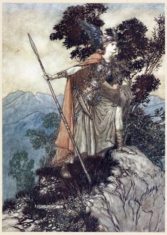Brunnhilde by Arthur Rackham